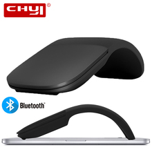 CHYI Hot Bluetooth Mouse Foldable Ultra Thin Arc Touch Mouse Laser Wireless Folding Mice Ergonomic Silent Mause For Macbook PC