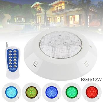 12 LED 12V 12W RGB 3000K Remote Control Wall mounted Waterproof Light Underwater Multi Color Light for Swimming Pool Outdoor