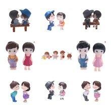 Fairy Resin Dolls Guitar Miniature-Ornaments Figurines Wedding-Accessories Couple Girl