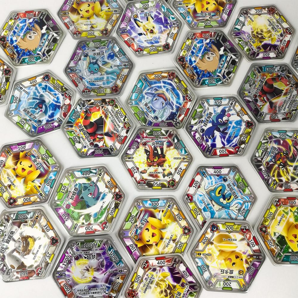 TAKARA TOMY Pokemon Cards Collections Pikachu 168pcs Shining Flash Card 7pcs/box 24box/set Toys Table Game For Kids Gift