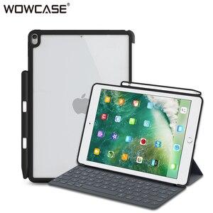 Image 1 - IPad kılıfı Pro 10.5 WOWCASE sert geri durumlarda kalemlik mükemmel maç akıllı klavye İnce arka kapak iPad hava 3 için 2019