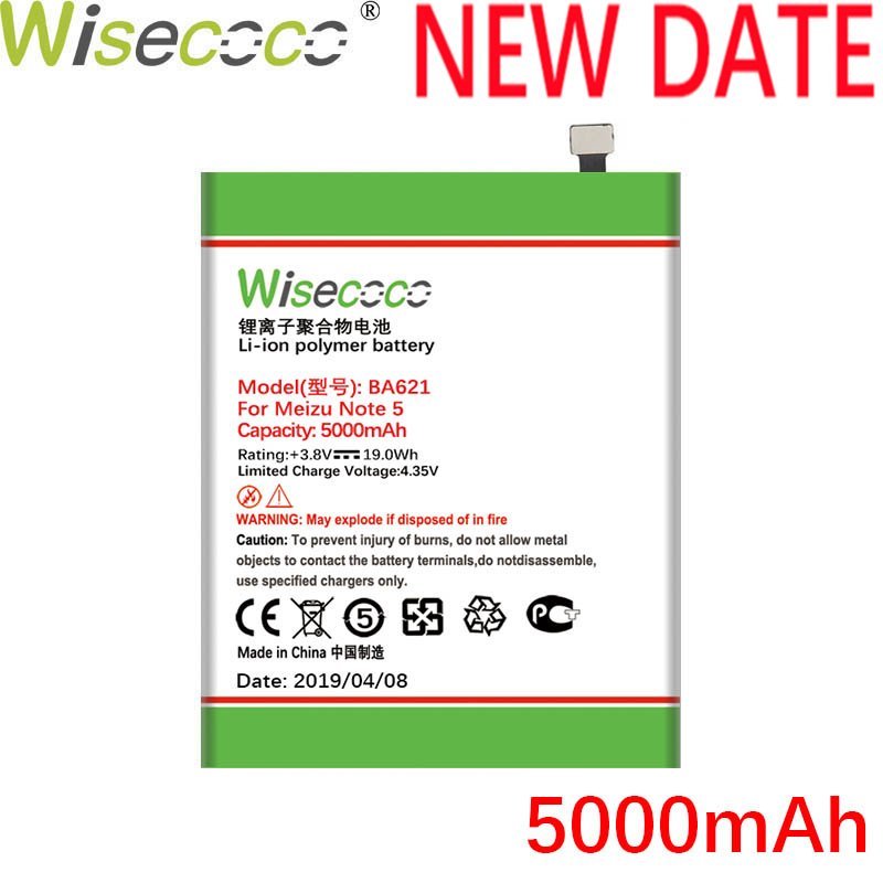Wisecoco BA612 <font><b>BA621</b></font> BT53S Battery For Mei zu 5S M5S NOTE M5 NOTE PRO 6S Mobile Phone Battery Replace+ Tracking Number image