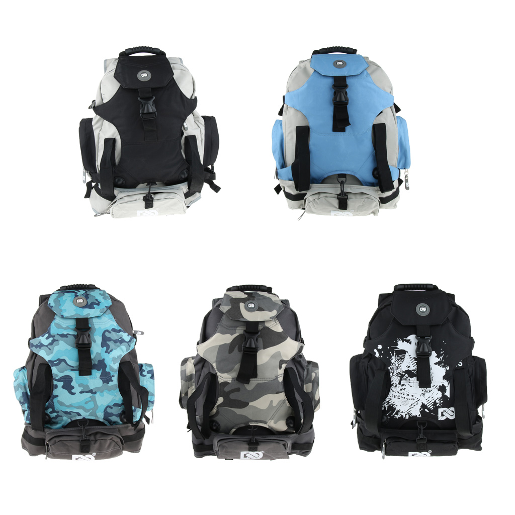 Roller Inline Skates Backpack Skate Skating Shoes Carrying Bag Multi Pockets Roller Skates Carrier Container