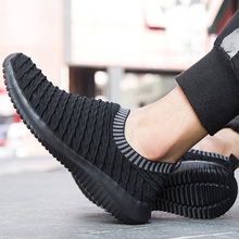 2019 autumn Men Shoes Slip On Casual Lightweight Comfortable Breathable Couple Walking Sneakers Feminino Zapatos 39 S