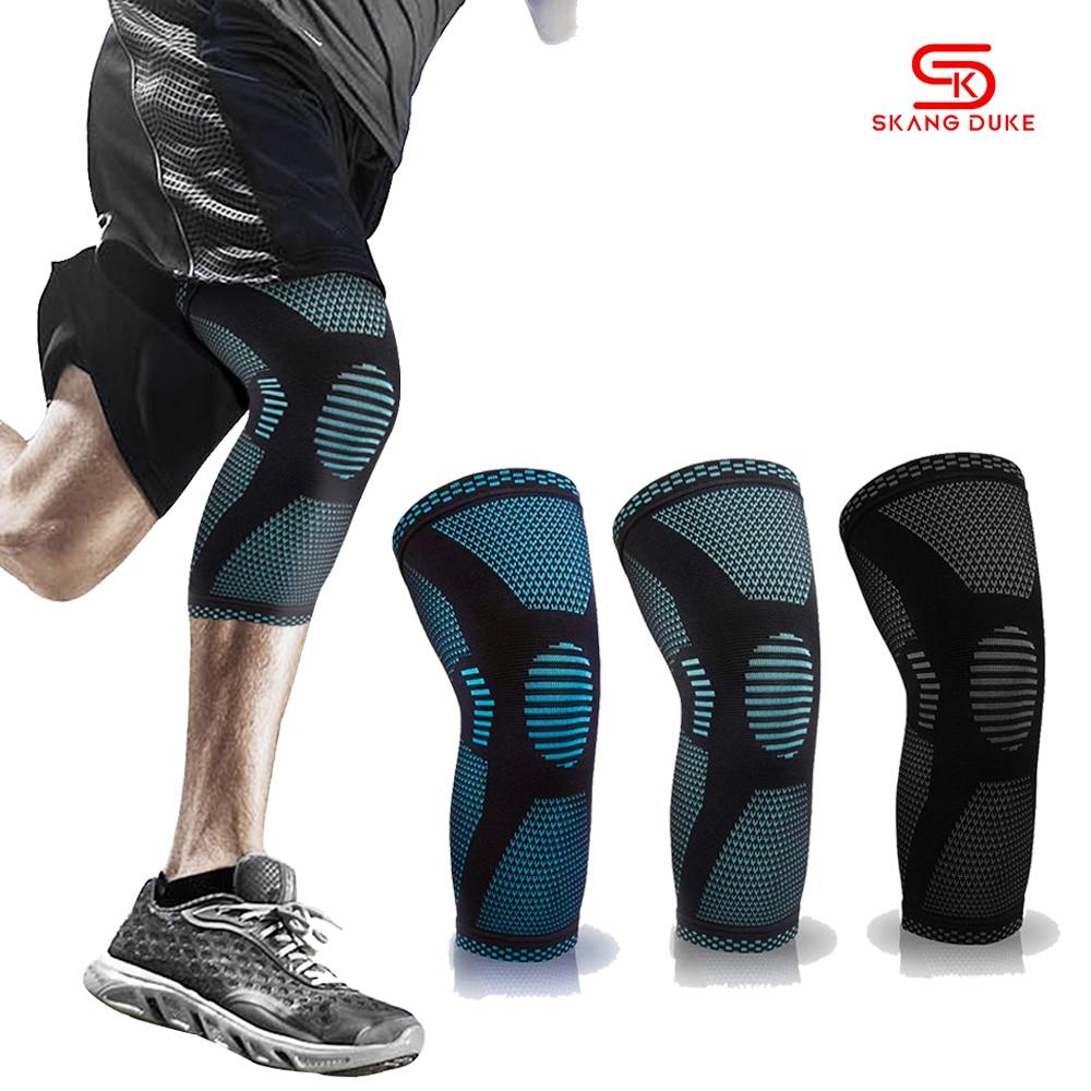 1 шт., нейлоновый спортивный наколенник SkangDuke для мужчин и женщин, для волейбола, баскетбола, фитнеса, тренажерного зала, бодибилдинга