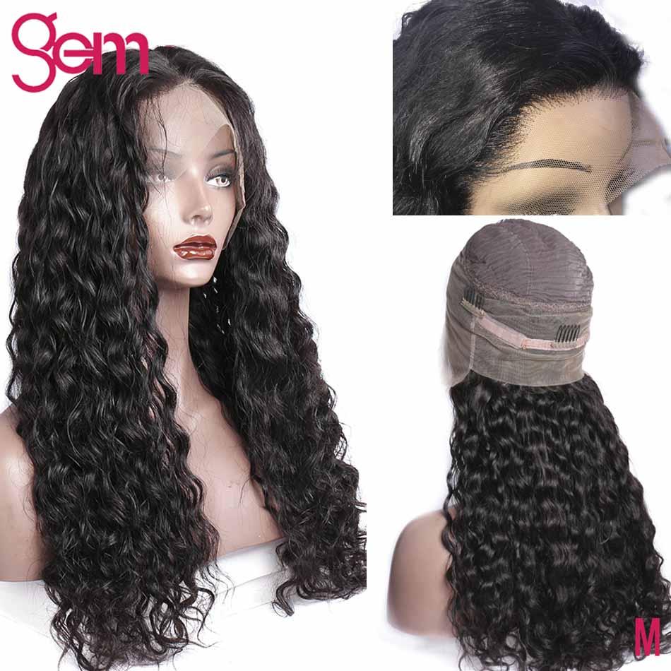 360 perruque frontale en dentelle brésilienne vague d'eau avant de - Cheveux humains (noir) - Photo 2