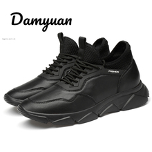 Damyuan 2019 Casual Mens Heighten Sport Shoes Taller Students 8cm/3.14 Inches Height Invisible Increas High Top Sneakers