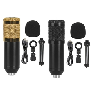 BM828 USB Microphone Professional Dynamic Mic System Set PC Recording Karaoke Microphone Set
