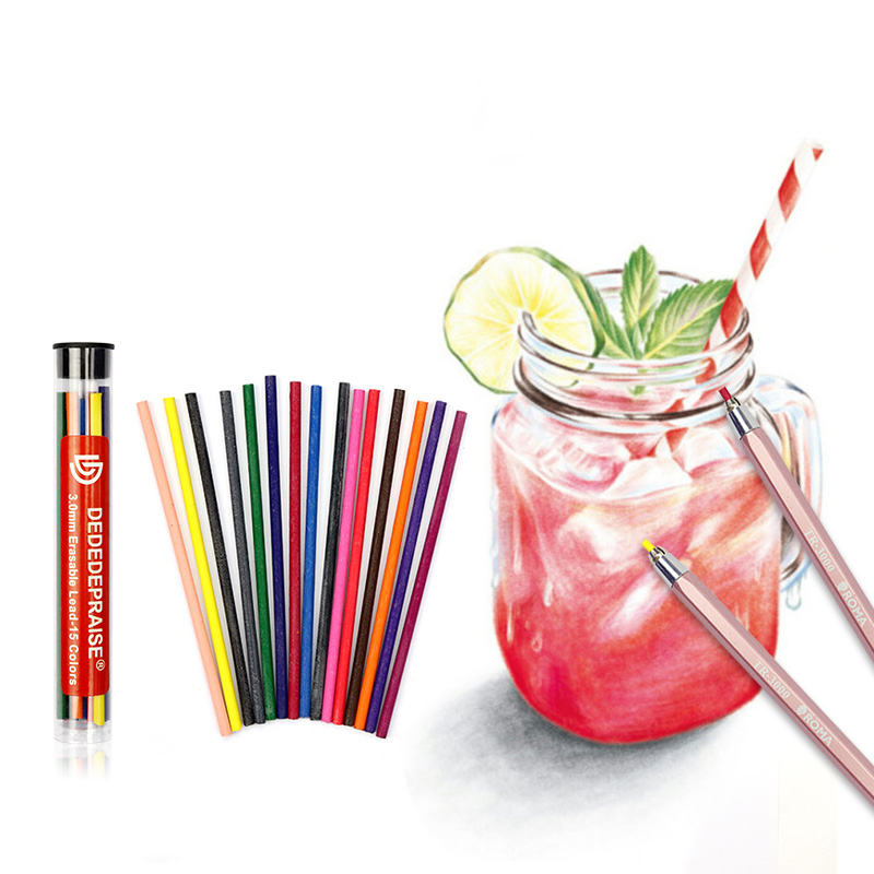 15 Colors 3.0 Mm Colorful Mechanical Colored Automatic Pencil Lead Art Sketch Drawing Color Lead School Office Supplies New