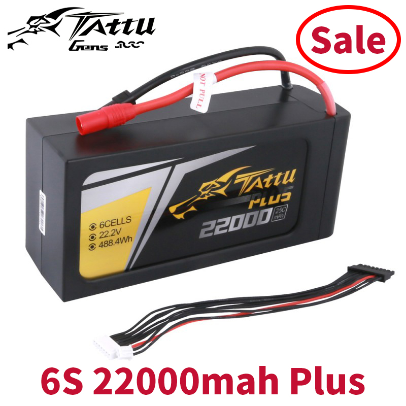 Tattu Plus <font><b>22000mAh</b></font> 22.2V 25C 6S1P <font><b>Lipo</b></font> Smart Battery Pack with AS150+XT150 Plug (New Version) image