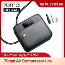 70mai voiture compresseur d'air Lite 12V 70mai portable électrique voiture pompe à Air Mini compresseur pneu gonfleur Auto pneu Pumb écran LED