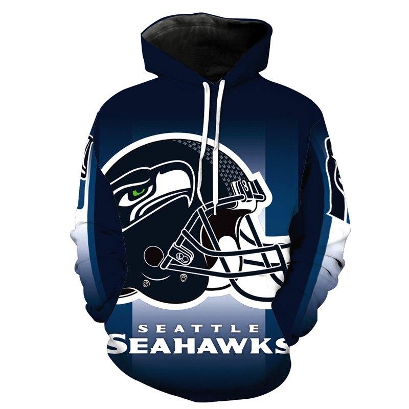Seattle Seahawks 3D Football Hoodies Streetwear Men/women Autumn Winter Casual Hoodies Sweatshirts Pullovers Tops