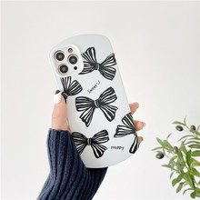 Fashion Mouse Model Bowknot Wave Point Girl Soft Case For Iphone 11 12 Pro Max Mini 7 8 Plus Xr X Xs Se 2020 Phone Cover Fundas