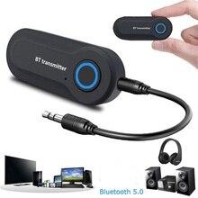 Bezprzewodowy zestaw słuchawkowy Bluetooth 5.0 nadajnik 3.5MM Jack muzyka Audio AUX radio Hifi Adapter Drive Free dla TV słuchawki do komputera głośniki