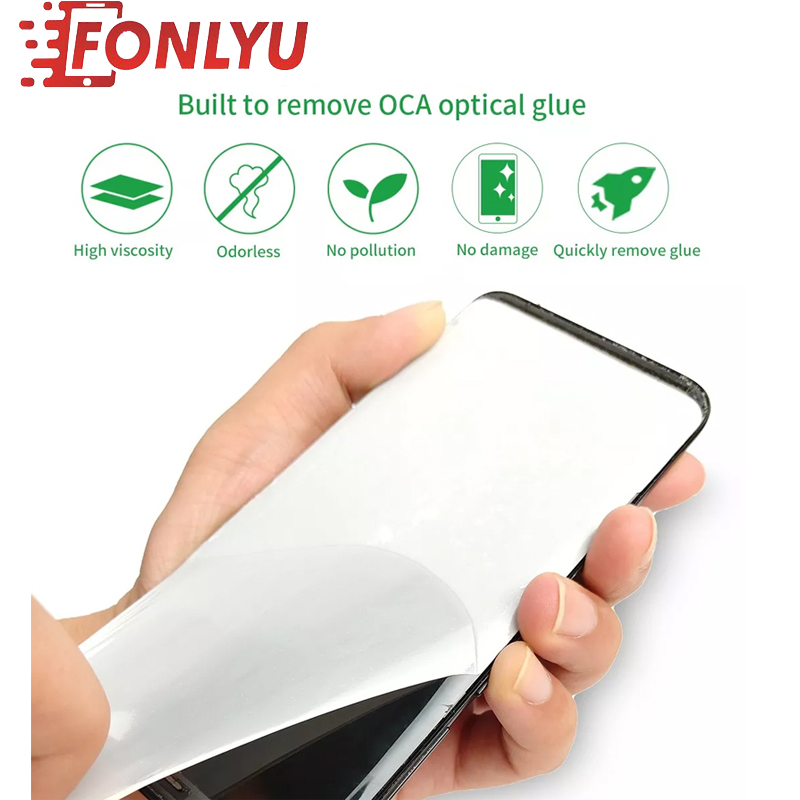 50pcs/lot Professional Rework OCA Glue Used For LCD Screen Residual Glue Removing