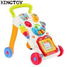 Музыкальные детские ходунки с колесиками детская тележка для