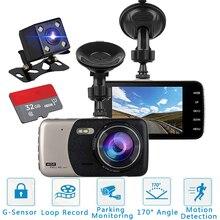 "Dash Cam Dual Lens FHD 1080P 3.6"" IPS Car DVR Vehicle Camera Front+Rear Night Vision Video Recorder G sensor Parking Mode WDR"