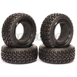 NEW ENRON 4PCS 75MM Rubber Tyres Tires For 1/10 RC Car On Road Racing Rally HSP HPI Redcat Tamiya Kyosho SAKURA
