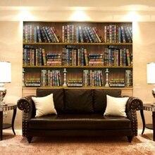 45cm x 10m autoadhesivo estantería biblioteca libro patrón pared papel Mural calcomanías sala de estar Decoración