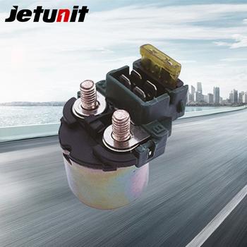 JETUNIT rozrusznik motocyklowy przekaźnik elektromagnetyczny dla Honda 35850-KW1-900 35850-KW1-901 części elektryczne akcesoria motocyklowe tanie i dobre opinie 0 15kg 0inch JX-70024 Metal Plastic Motocykl przełączniki Starter Relay Solenoid Black High quality 35850-KW1-900 35850-KW1-901