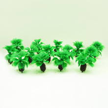50pcs 5cm height model short palm trees toys miniature ABS plastic beach wargame plant for tiny diorama sandtable seashore scene
