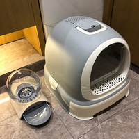Cat Litter Box Fully Closed Large Drawer Type Scoop Free Litter Box 0 10kg Kitty Litter Bedpans Plastic Cat Toilet Training Kit