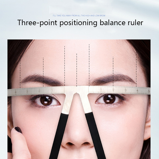 4PCS Professional Eyebrow Stencil Ruler Tattoo Reusable Eye Brow Measure Tool Makeup Accesories Tattoo Eyebrow Guide Ruler 2