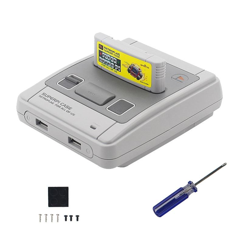 Original Retroflag SUPERPI CASE-J Raspberry Pi 3 Model B+/B NESPI ABS Box For RetroPie 32GB SD Card Gamepads Power Adapter