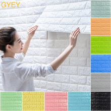 Autoadhesivo impermeable TV fondo de ladrillo papel de pared 3D pegatina de sala de estar papel pintado Mural decorativo de dormitorio 70*77(China)
