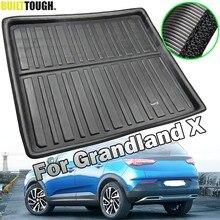 Plateau de chargement sur mesure pour Opel Vauxhall Grandland X 2017 2018 2019 2020, tapis de sol, tapis de coffre, plateau de bagages