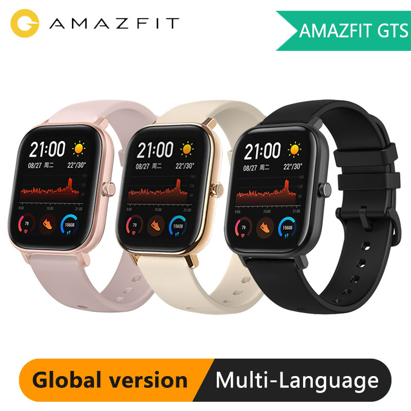 Huami Amazfit GTS Global Version Smart Watch 5ATM Waterproof Heart Rate 14 Day Battery GPS Music Control Like Apple Watch Xiaomi on AliExpress