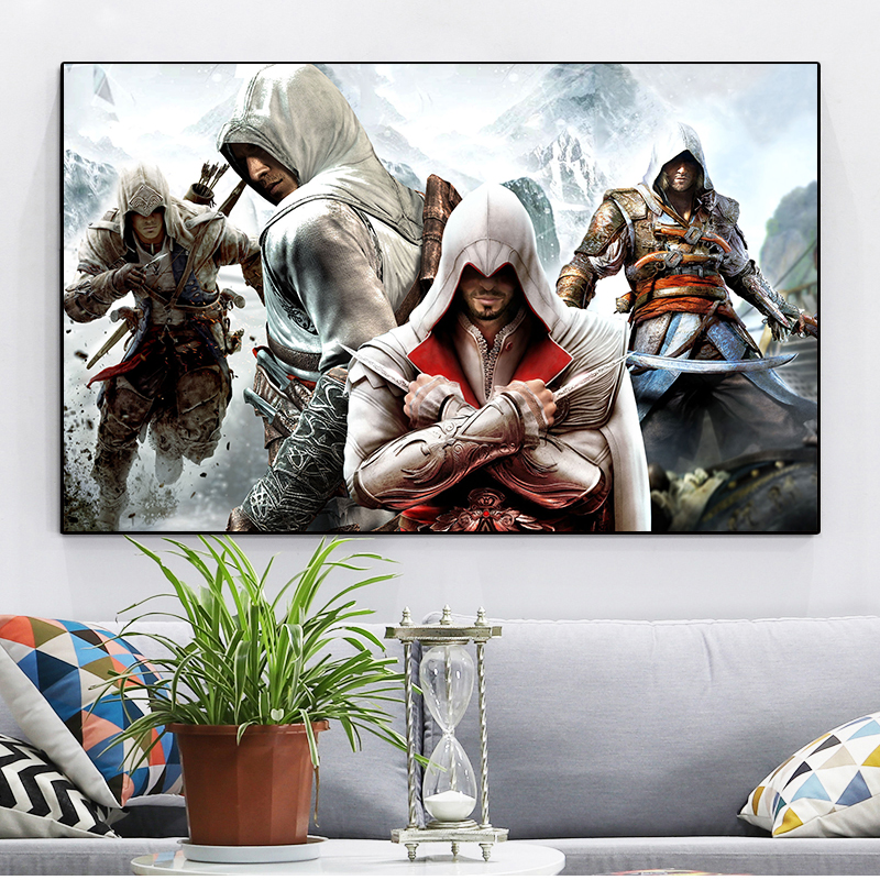 Hd Print Anime Painting Canvas Pictures Assassins Creed Poster