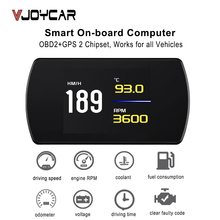 Car Electronics Speedometer Hud-Display Computer OBD2 GPS Temperature On-Board Code Clear