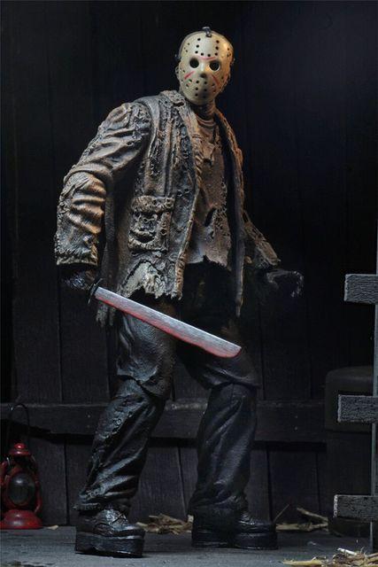 2019 New Type Original NECA Freddy Jason FVJ Ultimate Jason Voorhees Action Figure Colletable Model Toy Gift