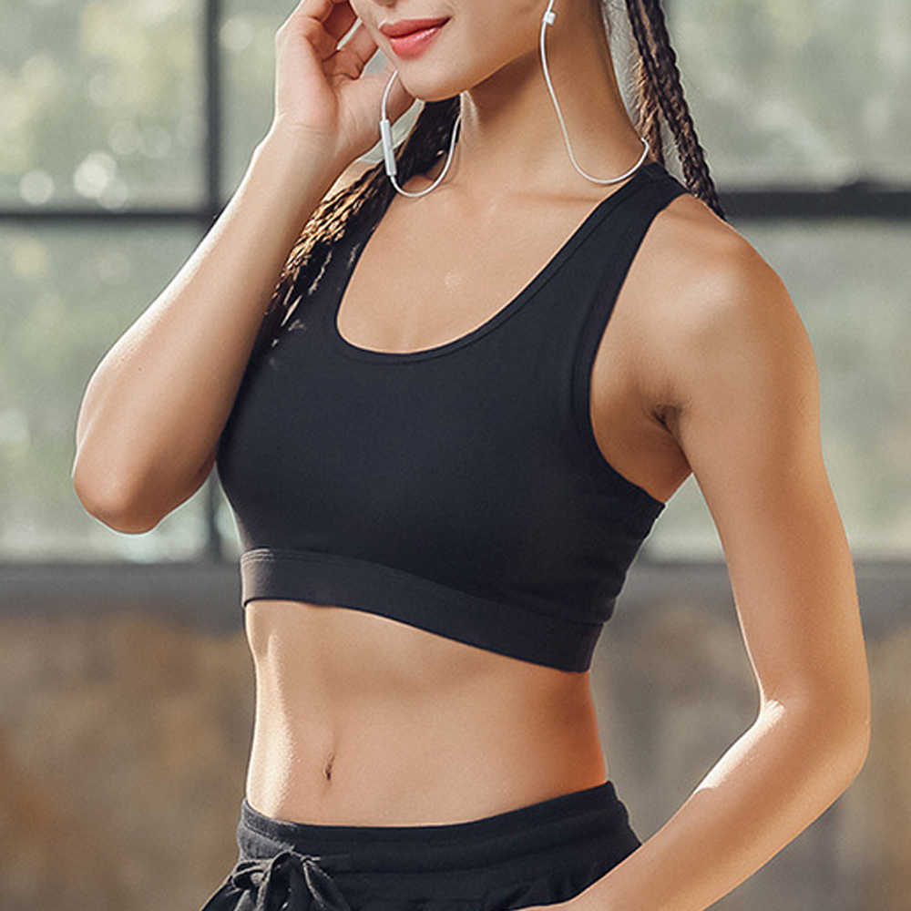 Sportbeha Women's Sports Bra Workout Tank Tops Desporto Gym Stretch Phone Pocket Hollow Yoga Sports Running Bra Padded