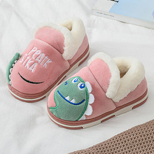 Buy SITAILE Winter Kids Slippers Cartoon Candy Color For Boy And Girl Baby Warm Thicken Indoor Non-slip Sandals directly from merchant!