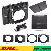 Tilta MB T12 Nhẹ 4*5.65 Sợi Carbon Matte Box (Kẹp vào) 15mm Cần Adapter dành cho ĐỎ ARRI SONY DSLR BMPCC Lồng Camera Giàn Khoan