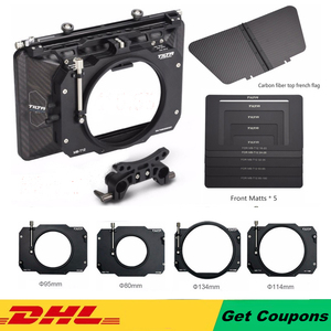 Image 1 - Tilta MB T12 hafif 4*5.65 karbon Fiber mat kutu (kelepçe açık) 15mm çubuk adaptörü kırmızı ARRI SONY DSLR BMPCC kafes kamera Rig