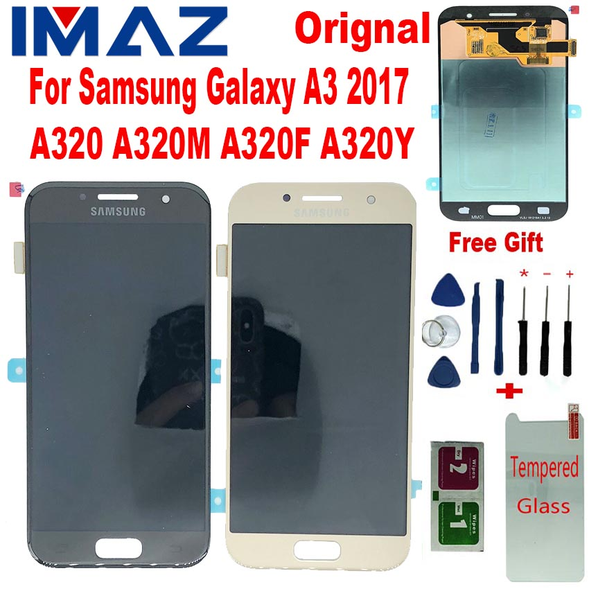 "IMAZ Original <font><b>AMOLED</b></font> 4.7"" LCD For Samsung Galaxy A3 2017 <font><b>A320</b></font> A320M A320F/Y LCD Display Touch Screen Digitizer Assembly <font><b>a320</b></font> LCD image"