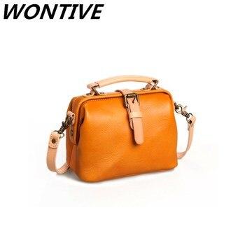 New Women Handbag Genuine Leather Bags Retro  Luxury Shoulder Ladies Handbags Fashion Portable Messenger