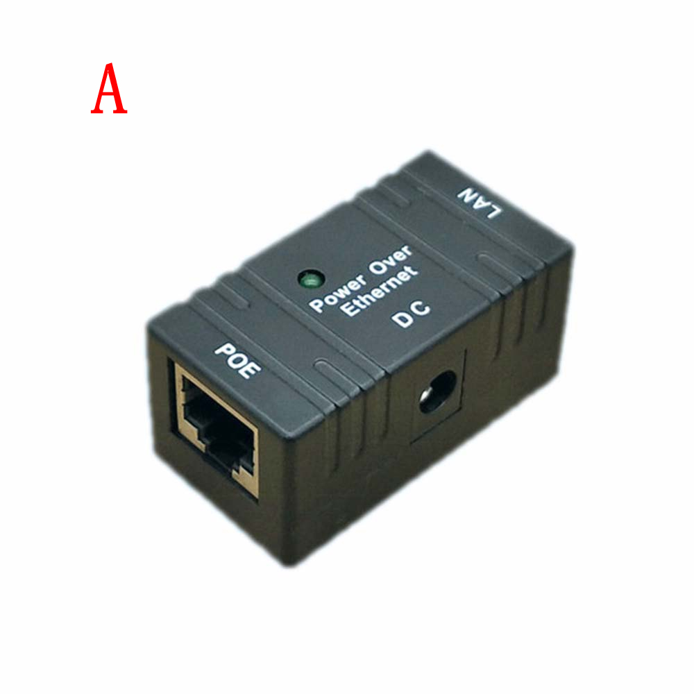 1PCS 10M/100Mbp Passive POE Power Over Ethernet RJ-45 Injector Splitter Wall Mount Adapter For CCTV IP Camera Networking