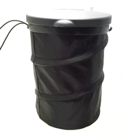 Bal 범용 자동차 쓰레기통 휴대용 자동차 쓰레기통 접을 수있는 쓰레기통 커버 포함
