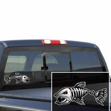 2pcs / set Skeleton Fish Bone Vinyl Decal Sticker Kayak Fishing Boat Car Graphics Styling Accessories