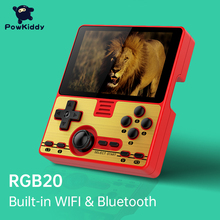 POWKIDDY-وحدة تحكم ألعاب محمولة مع شاشة 3.5 بوصة ، وحدة Wifi مدمجة ، لعبة متعددة اللاعبين على الإنترنت ، RK3326 مفتوح المصدر