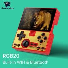 Игровая консоль POWKIDDY RGB20, 3,5 дюйма, IPS, встроенный Wi-Fi модуль, многопользовательская онлайн-игра, RK3326, портативная игровая консоль с открытым и...