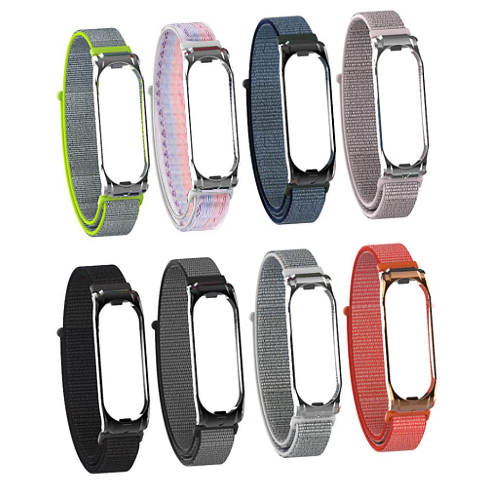 Sport Watch Wrist Band For Mi Band 3 4 Strap Nylon Replacement Wrist Strap For Xiaomi Mi Band 3 Replacemet Multicolor Wristband