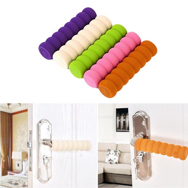 Baby Children Kids Safety Supplies Room Doorknob Pad Cases Spiral Anti-Collision Security Door Handle Protect Cover Random Color