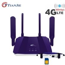 4G Router Wifi LTE Wi Fi Modem Sim Card Acces WAN/LAN Por Mobile Hotspot Lte Car Networking Vpn Cpe Outdoor 300Mbps 4G CPE Modem