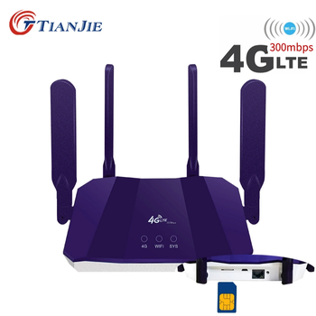 4G Router Wifi LTE Wi Fi Modem Sim Card Access WAN/LAN RJ45 Port Mobile Hotspot Car Networking Vpn Broadband CPE Outdoor 300Mbps