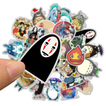 Pegatinas de dibujos animados de Manga Miyazaki Hayao, para teléfono móvil, portátil, equipaje, Maleta, guitarra, monopatín, 10/50 Uds.
